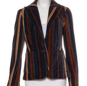 Marc Jacob's velvet striped blazer size 12